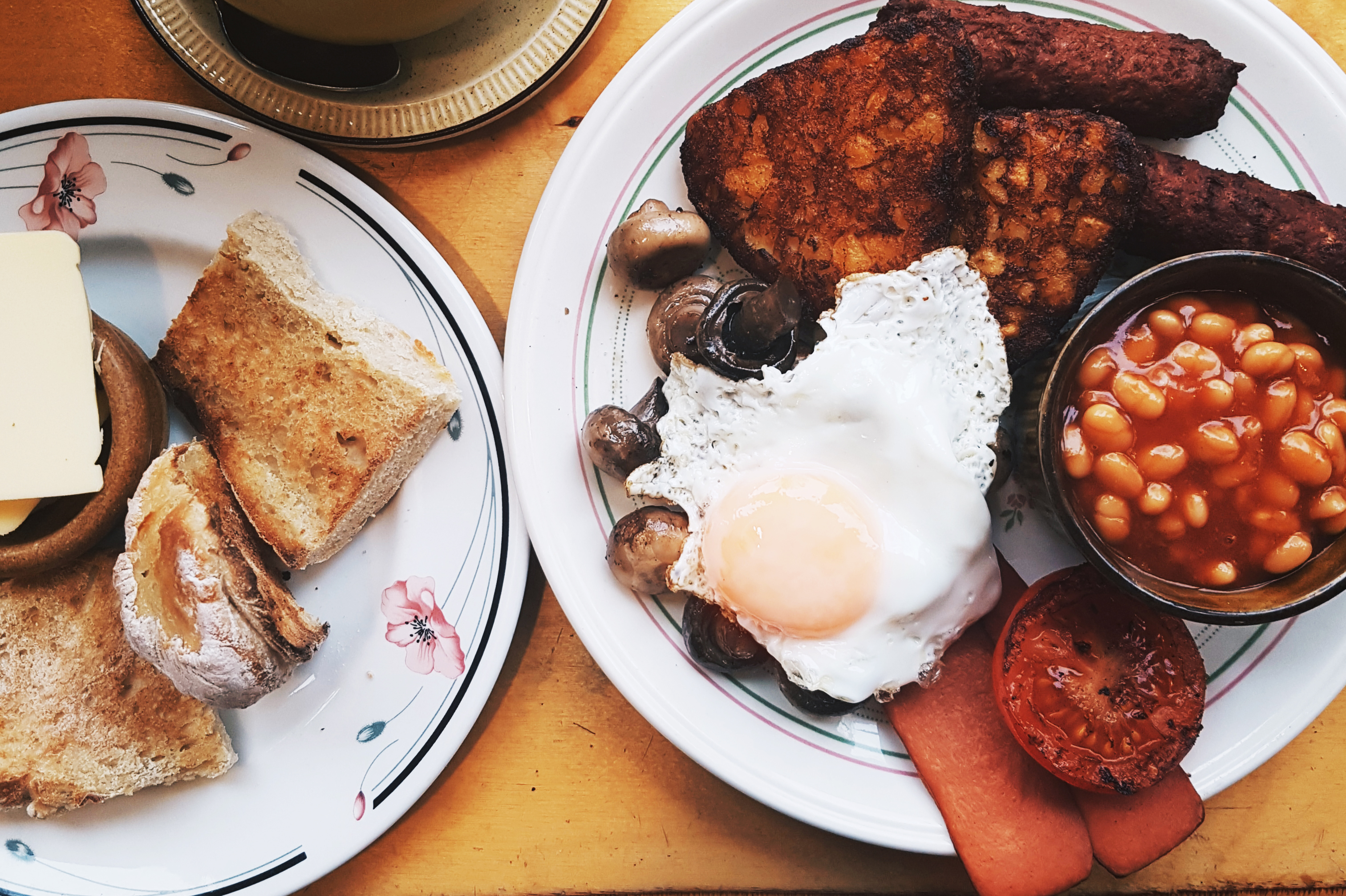 Veggie breakfast at House Cafe, St Benedicts